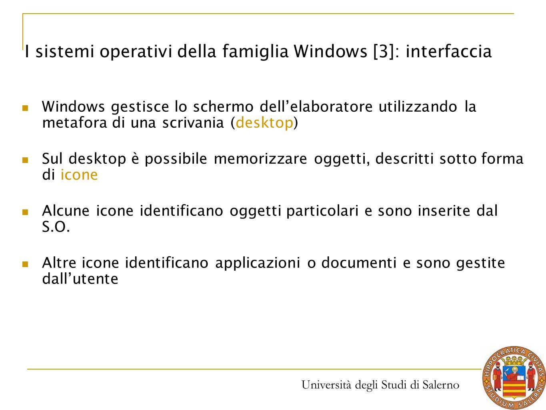 I sistemi operativi della famiglia Windows [3]: interfaccia